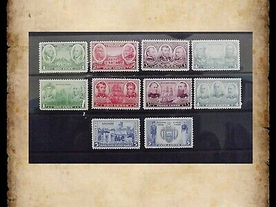 US Stamps Scott 785-794 Complete Army Navy Set of 10 Singles OG MNH