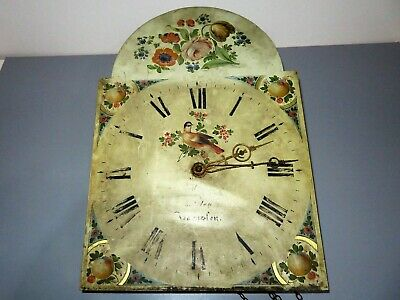 Grandfather clock face and movement.Allen of Barnsley.