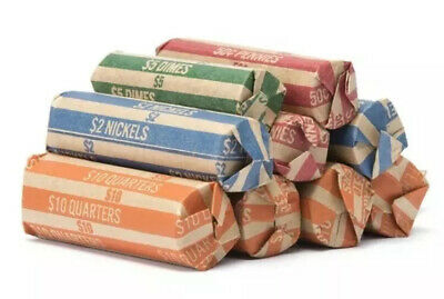 Coin Roll Wrappers -(300 Pack) Assorted Flat Coin Papers Bundle of Quarters Nick