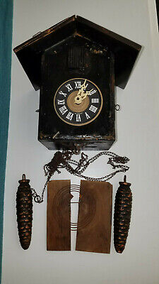Vintage Cuckoo Clock for parts
