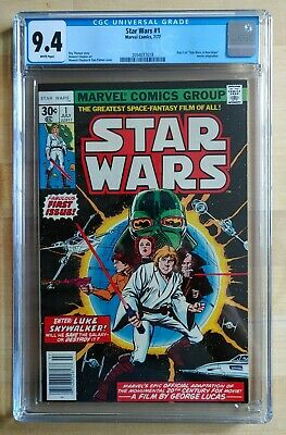 1977 Marvel Star Wars #1 CGC 9.4 WHITE PAGES ~PRISTINE SLAB~ COMBINED SHIPPING