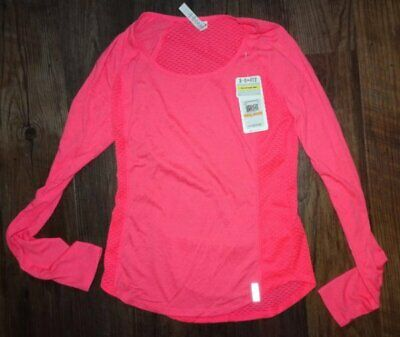 Under Armour Womens Small Heat gear Compression Top Shirt Pink New NWTS Running