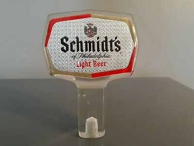 SCHMIDTS Philadelphia Light Beer Vintage Draft Tap Handle Knob Bar Man cave