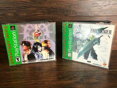 Final Fantasy VII 7 And VIII 8 Sony PlayStation 1 PS1 Greatest Hits Missing Disk