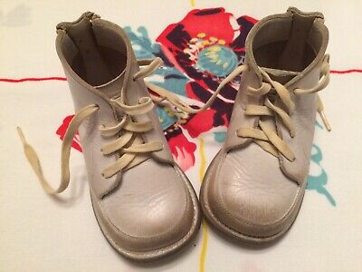 Vintage Jumping Jack Leather White Sweet Baby Shoes