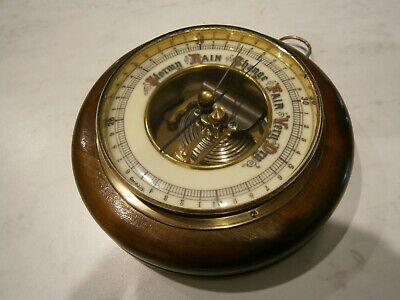 Vintage Larger German Pendant Wall Barometer