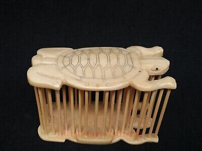 Collection Ancient China Hand Carved Lovely Turtle Cricket Cage Decoration Gift