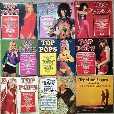 Job Lot VINYL LP RECORD COLLECTION Top of the Pops & The Top of the Poppers