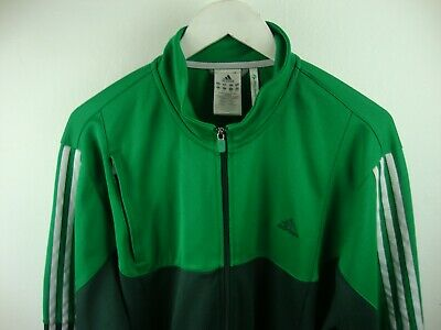 Rare Authentic Vintage Adidas Green Tracksuit Jacket Top Size XL Good Condition