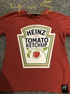 Boys Red Tomato Ketchup T Shirt Age 4-5 Years