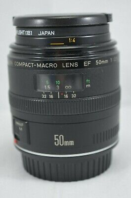 Canon EF Compact Macro 50mm f/2.5 EF Lens With Hoya Skylight Filter & Caps