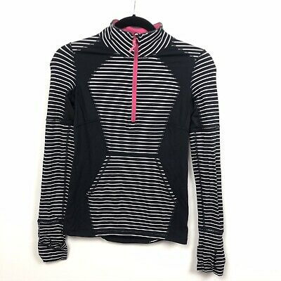 Iviva Girls Pullover Athletic Top Long Sleeve Black Striped Size 12