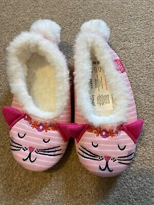 Girls Joules Dreama Cat Slippers - Size S - 10-11