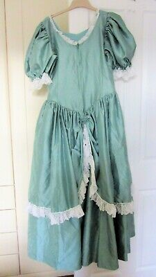 Vintage Victorian Edwardian Steampunk Theatrical Green Gown Dress 10 12