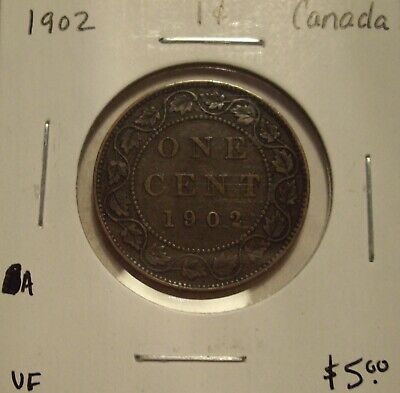 A Canada Edward VII 1902 Large Cent - VF