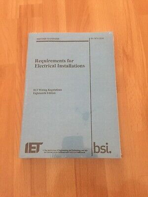 requirements for electrical installations IET Wiring Regulations 18th Editon