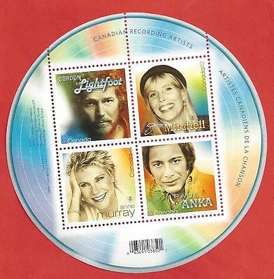 Canada # 2221 SS  2007 VF NH  Canadian Recording Artist  Post Office New