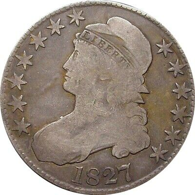 1827 Bust Half Dollars--Very Good