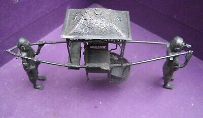 Antique Chinese Export Solid Silver Sedan Chair Model  85 & Character Mark