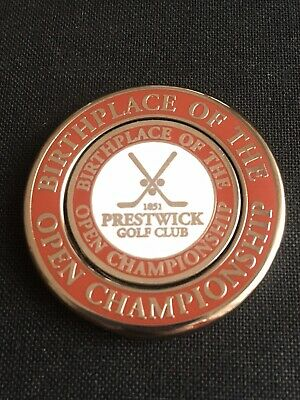PRESTWICK Golf Ball Marker With Removable