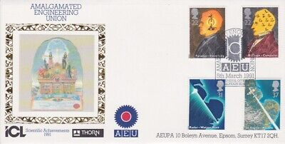Gb Stamps First Day Cover 1991 Scientific Aeu Union Rares Collection