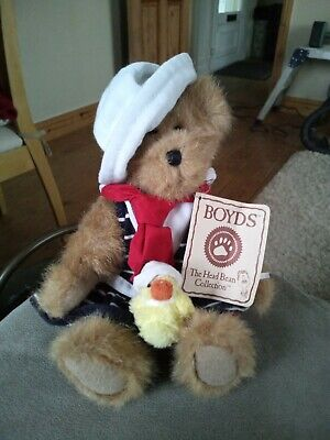 "Boyd "" Bailey""  Jointed Teddy Bear With Easter Chick"