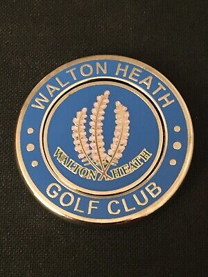 WALTON HEATH. Golf Ball Marker With Removable.