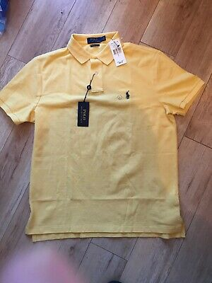 Mens Ralph Lauren Polo Shirt Short Sleeve Slim Fit Large, brand new With Tags