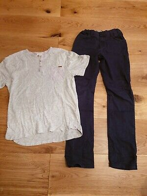 Boys Navy Trousers And Tshirt Age 11-12 Zara