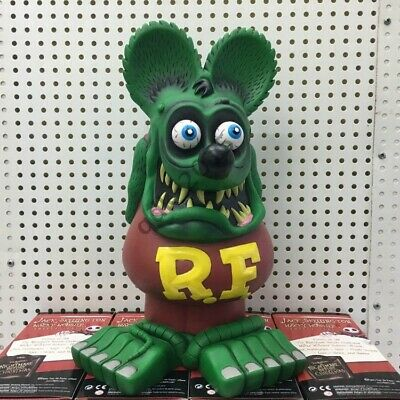 """13"""" Green RAT FINK Action Figure Big """"Daddy"""" Ed Roth Statue Model Toy b"""