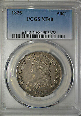 1825 Capped Bust half dollar, PCGS XF40