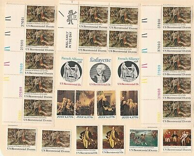 US stamp collection of 27 unused 13 cent Stamps  Lot #9 - Bicentennial Issues