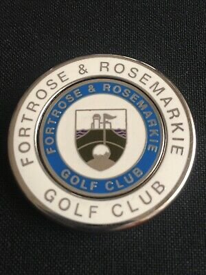 FORTROSE et ROSEMARKIE  Golf Ball Marker With Removable
