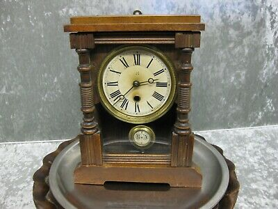 Old beautiful H.A.C 1 day vintage clock by Wartumberg in full working order