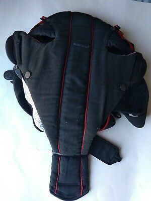 BABY BJORN INFANT FRONT CARRIER BLACK and red