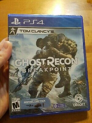 PS4 Tom Clancy's Ghost Recon Breakpoint DAY ONE Sentinel Corp Pack DAMAGED READ