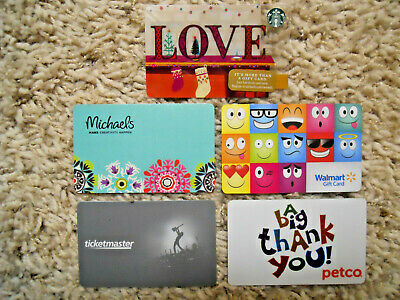 Gift Cards, Collectible, five new cards, no value on cards    (E-8)