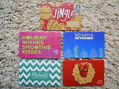 Gift Cards, Collectible, five new, unused cards, no value on cards       (N-1)