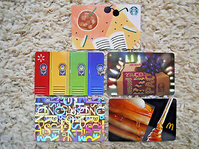 Gift Cards, Collectible, five cards, new, unused, no value on the cards   (F-11)