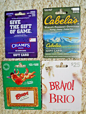 Collectible Gift Cards, unused, new, with backing, no value on cards     (J-12)