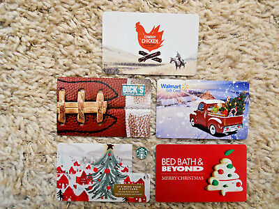 Gift Cards, Collectible, five cards, new, unused, no value on the cards     (ZJ)