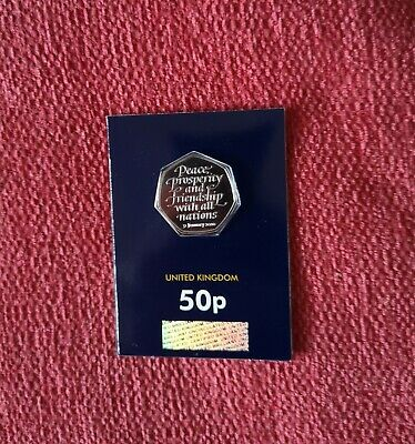 Brand New 2020 Uncirculated Brexit 50p BUNC Coin In Sealed Blue Card