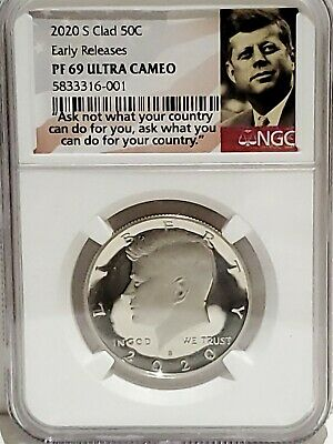 2020-S Clad Kennedy Half Dollar NGC PF69 Ultra Cameo Early Releases
