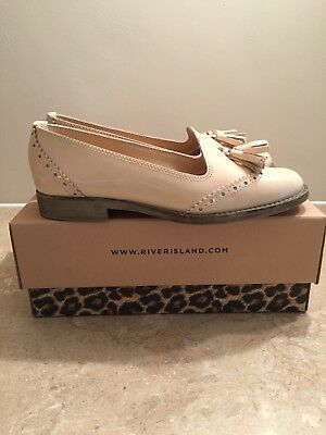Ladies/Girls RIVER ISLAND Peach Loafers - Size 6/39