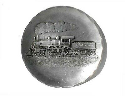 Vintage Wendall August Aluminum Coaster, Empire State Express