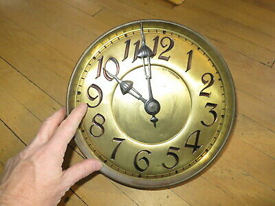 Antique Circa 1910 German Grandfather Clock Movement, Dial & Hands Germany
