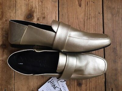 Women's Sixty Seven Gold Loafer Shoes Size EU 41 / UK 8 BNWOB