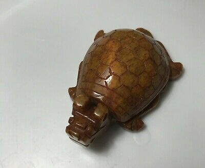 Chinese OLD Jade TURTLE TORTOISE DESK  statue PAPERWEIGHT PENDANT