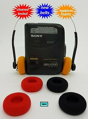 Sony Walkman cassette radio player  NEW BELTS CLEANED WORKING & TESTED!