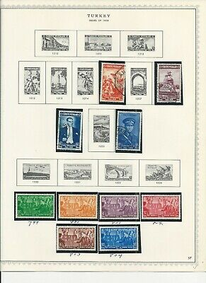 Turkey stamp collection, late 1930s-early 1940s, 12 pages